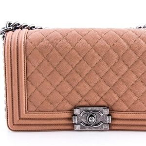 CHANEL Quilted Medium Boy Flap